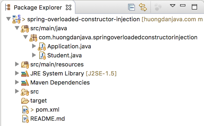 Constructor Injection với overloaded constructor trong Spring