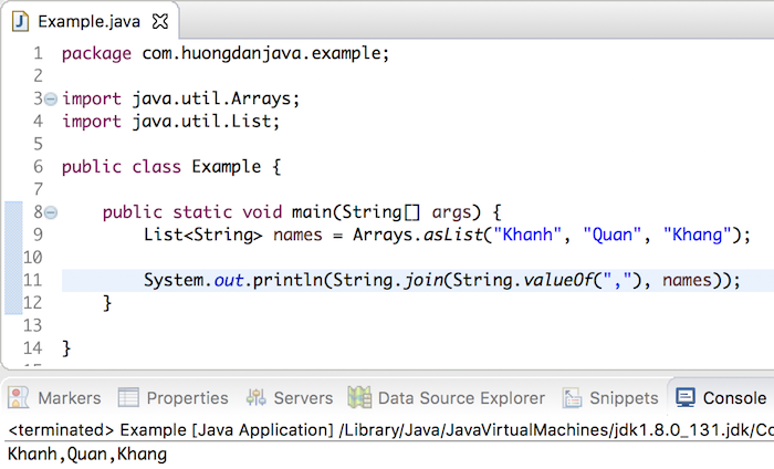 how to make a string an object in java