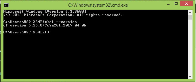 Install Cloud Foundry Command Line Interface on Window