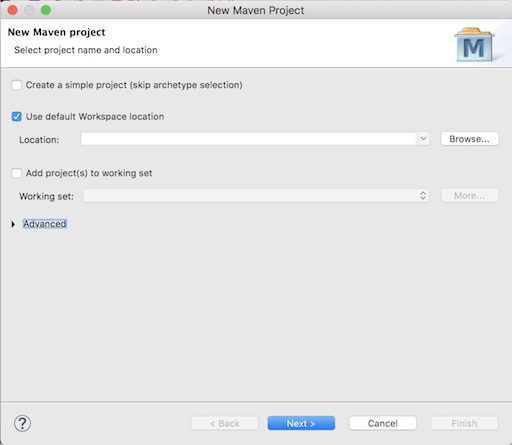 Create new Maven project in Eclipse