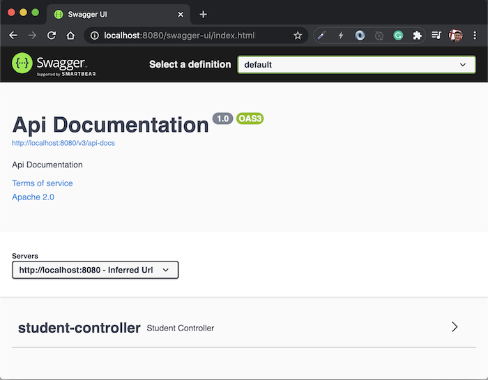 Documenting your RESTful API with Springfox for Swagger in Spring Boot