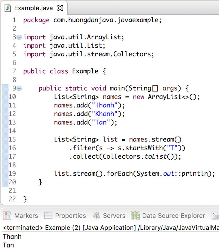 Filter a List using Lambda Expression and Stream in Java