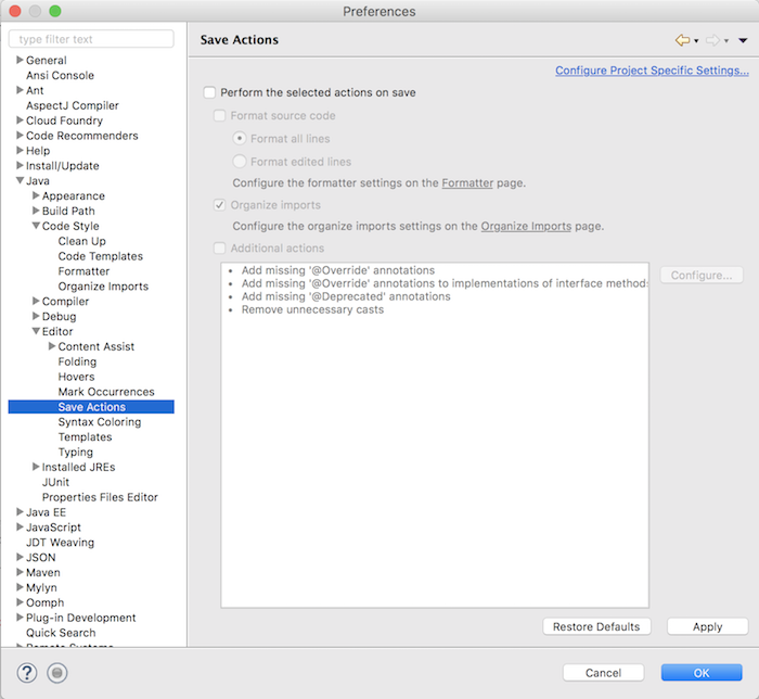 Setting up Eclipse IDE for first time