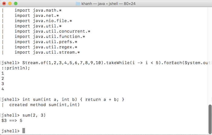 Introduce about JShell in Java