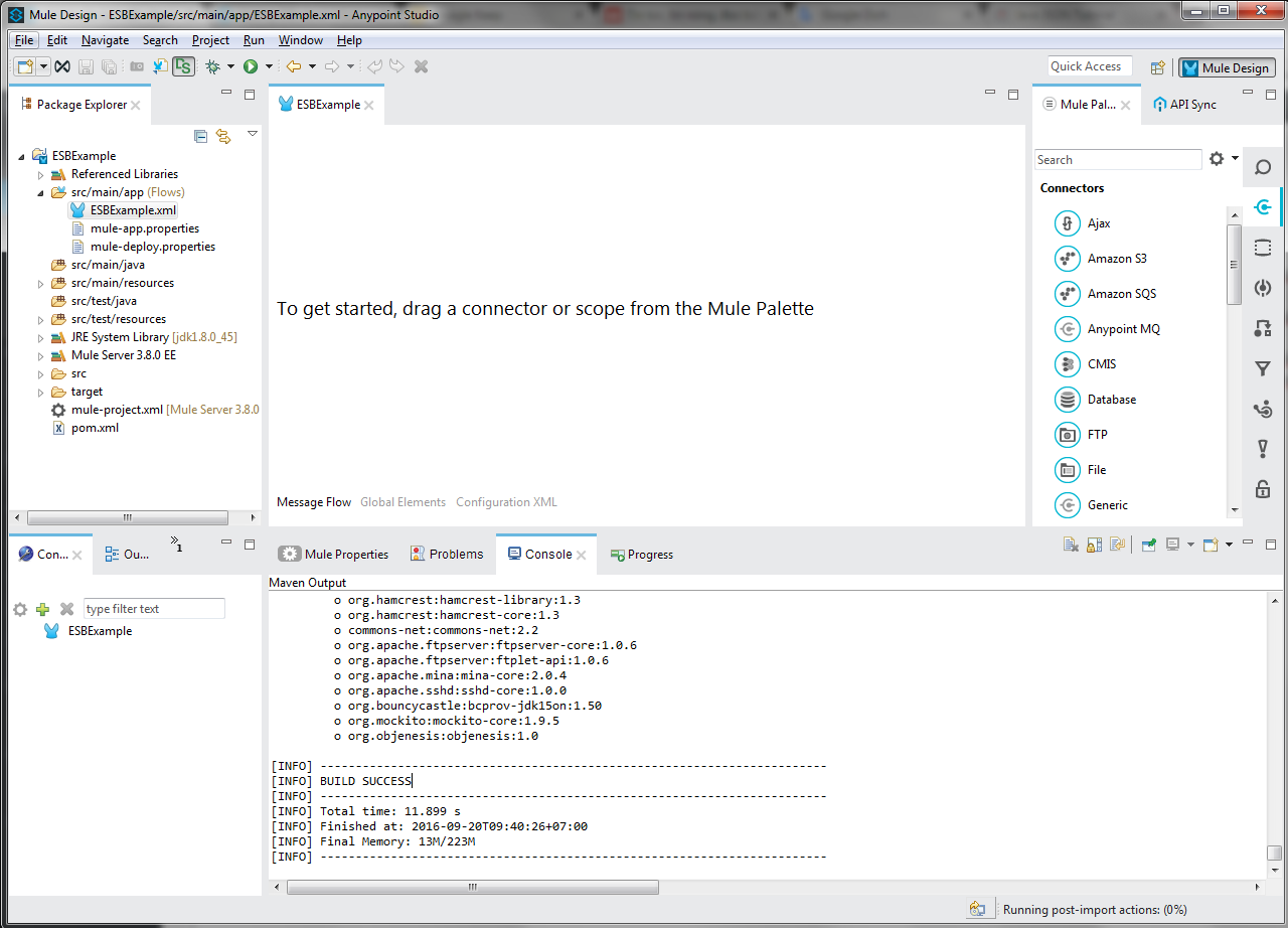 Using JMS Endpoint for ActiveMQ in Mule ESB application
