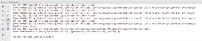 Composite Primary Key trong JPA với annotation @Embeddable