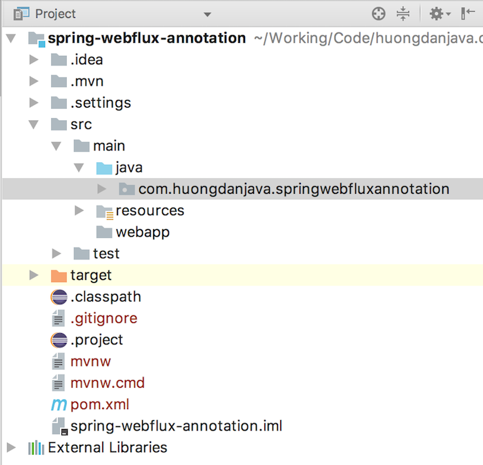 Reactive web using annotation with Spring WebFlux