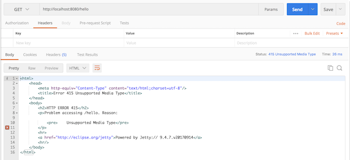 Using @RequestMapping annotation with attribute consumes in Spring MVC