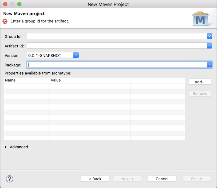 Create web application using Maven in Eclipse