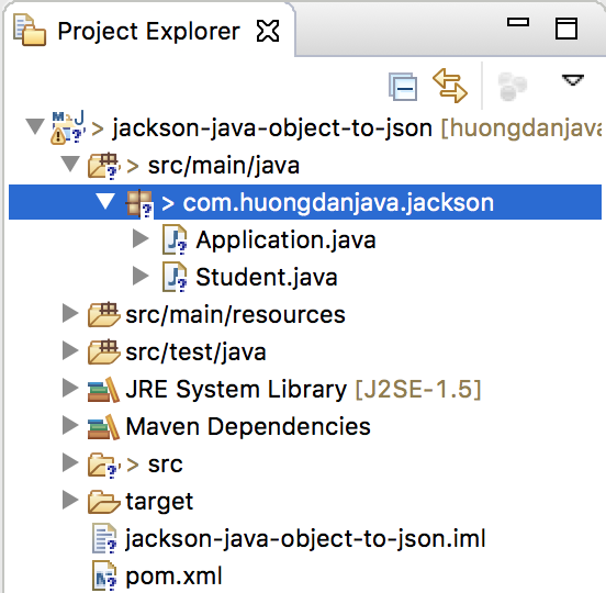 Convert Java object to JSON using Jackson
