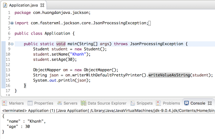 Convert Java object to JSON using Jackson - Huong Dan Java