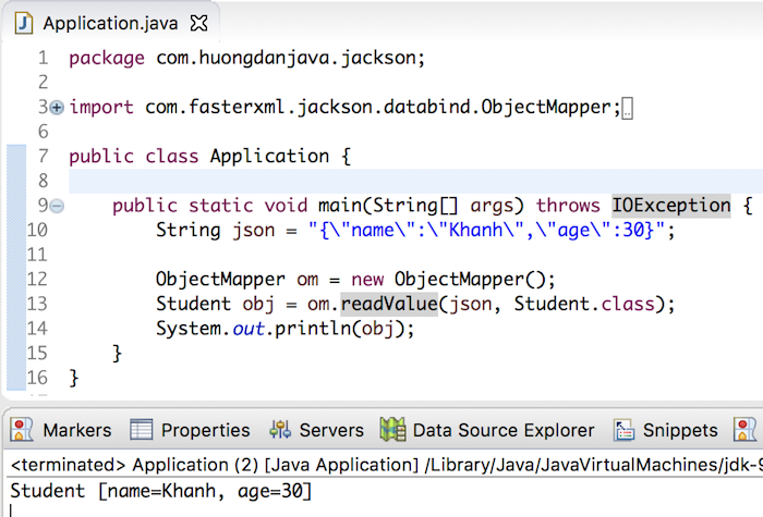 Convert JSON to Java object using Jackson - Huong Dan Java