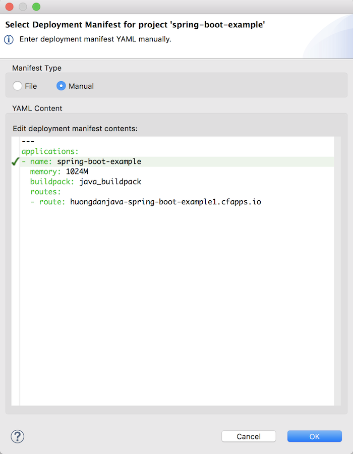 Deploy Spring Boot application to Cloud Foundry using Spring Boot Dashboard in Spring Tool Suite