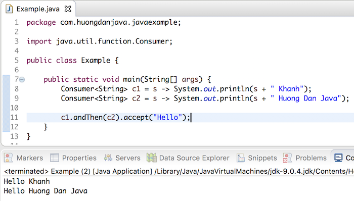 Learn about Consumer Functional Interface in Java - Huong Dan Java