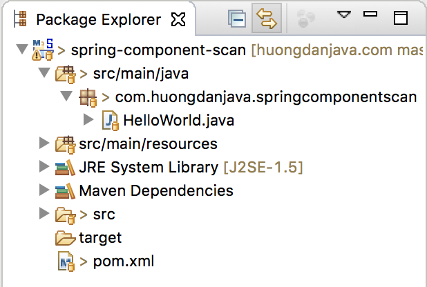 Auto component scan in Spring