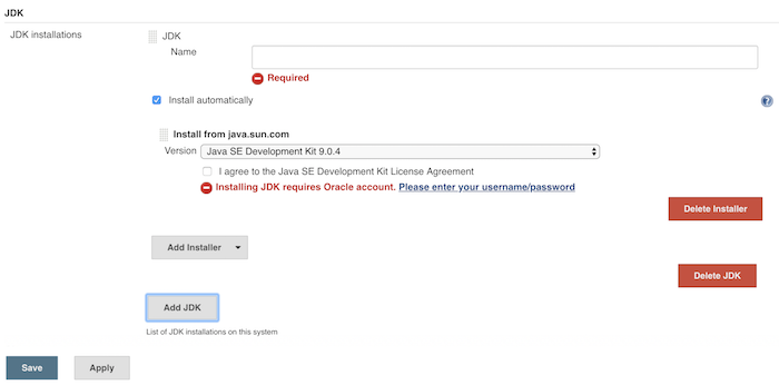 Configure JDK in Jenkins