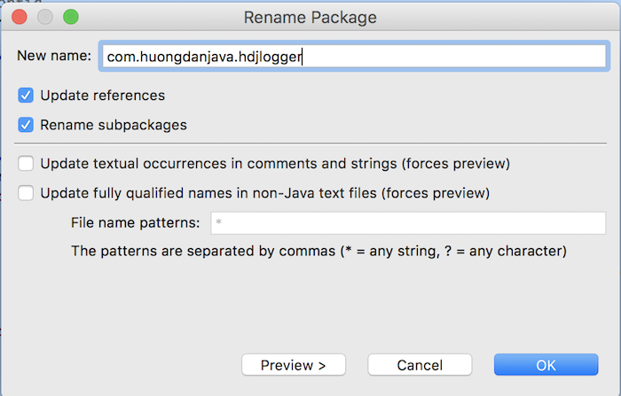 Huong Dan Java Logger - Part 2 - Change Logger name and package name