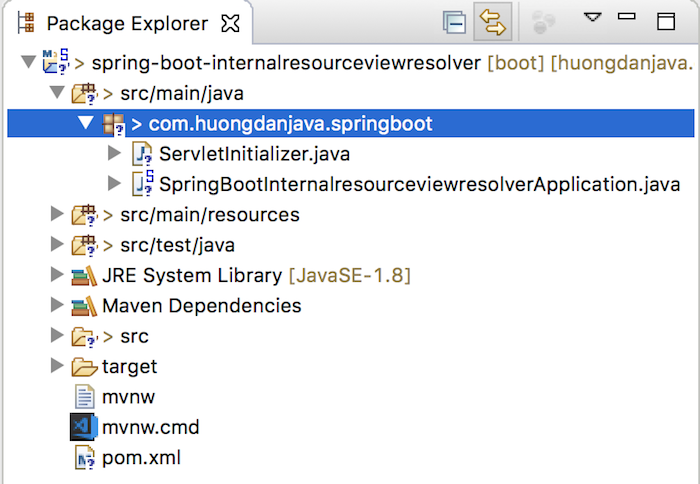 InternalResourceViewResolver in Spring Boot