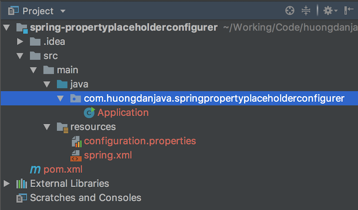Read properties files in Spring using PropertyPlaceholderConfigurer object
