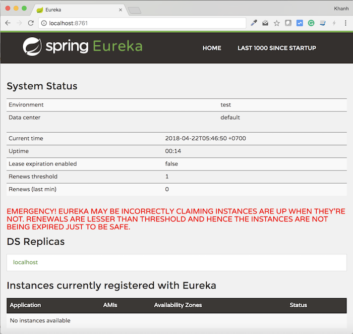 Register services with Eureka Server using Eureka Client, with Spring Cloud Netflix