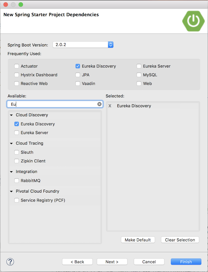 Discovery services in Eureka Server using Discovery Client, with Spring Cloud Netflix
