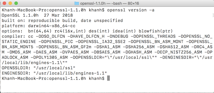 Install OpenSSL from source on macOS