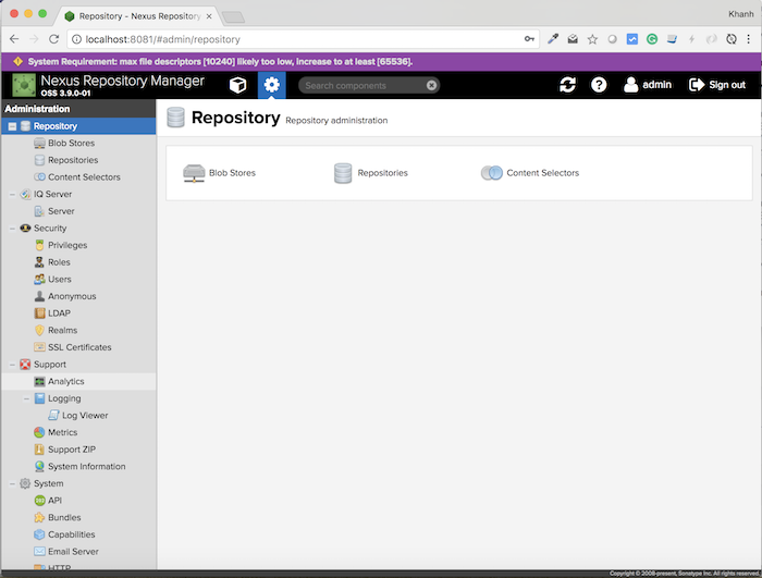 Tạo mới Maven Repository trong Nexus Repository Manager