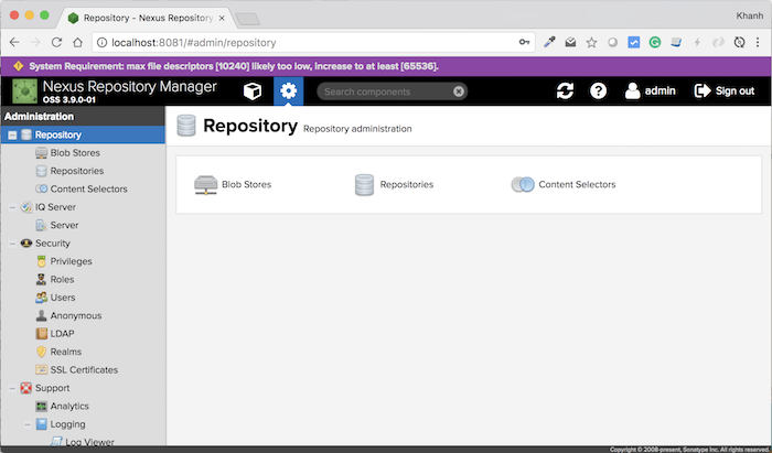 Create User in Nexus Repository Manager