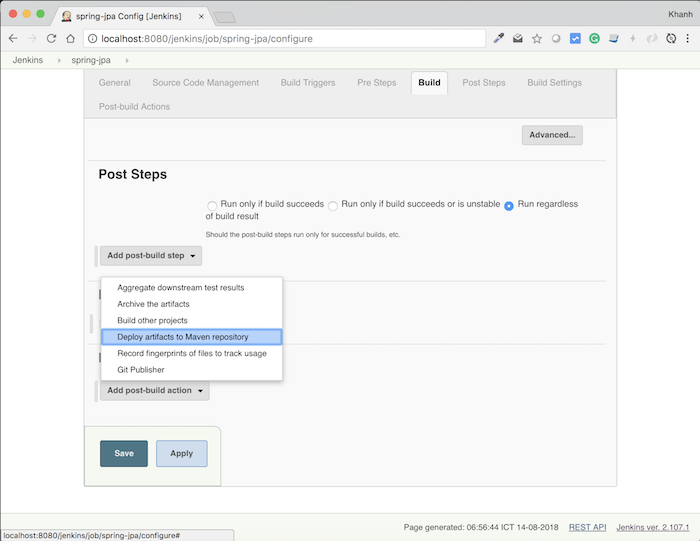 Deploy artifacts into Maven Repository in Jenkins - Huong