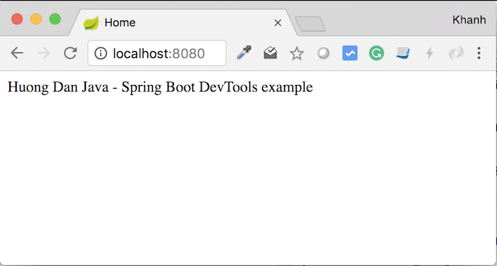 Introduction about DevTools in Spring Boot