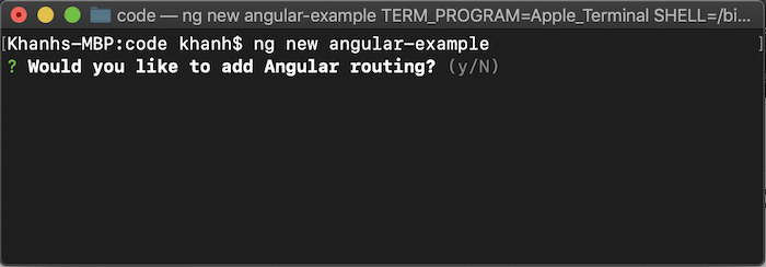 Create Angular project using Angular CLI