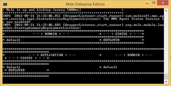 Deploy the Mule ESB application to the Mule Enterprise Server
