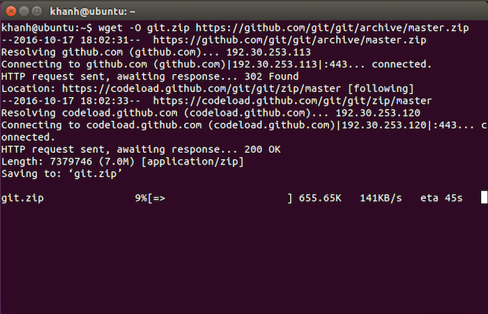 Install Git from source code on Ubuntu