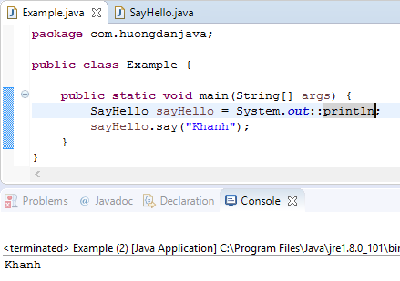Method reference in Java