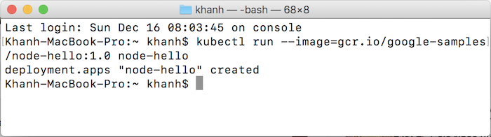 "Run a container using ""run"" command in Kubernetes cluster"