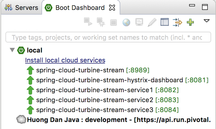 Monitor multiple services using Hystrix Dashboard and Turbine Stream from Spring Cloud Netflix