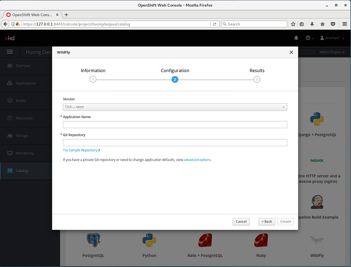 Deploy ứng dụng trong OpenShift sử dụng web console