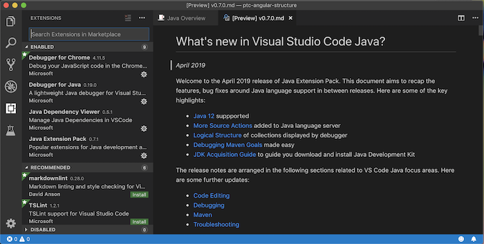 Java programming with Visual Studio Code