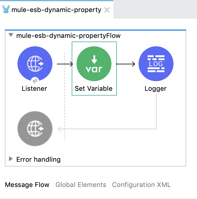 Dynamic property key in Mule 4